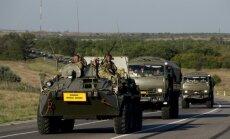 Maskava noliedz, ka Krievijas militārā tehnika būtu iebraukusi Ukrainā