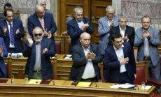 Grieķijas parlaments dod 'zaļo gaismu' referendumam par kreditoru priekšlikumiem