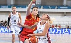 Сборная Латвии дебютировала на чемпионатах мира интригующим матчем с китаянками
