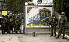 Telekanāls: Krievijas karavīri 17.martā sāks triecienā ieņemt Ukrainas armijas daļas Krimā