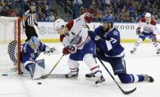Gudļevskis paliek rezervē 'Lightning' uzvarā pret 'Canadiens'
