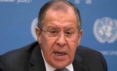 Lavrovs mudina Trampu pretoties 'rusofobiskām' intrigām