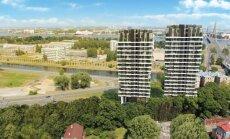 ФОТО: В Пардаугаве возводятся две жилые многоэтажки