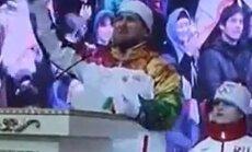 Video: Kadirovs ar olimpisko lāpu rokās kliedz 'Allahu akbar'