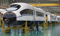 Foto: Gatavojoties 'megaprojektam' ar Krieviju – Ķīnas Tangšanas dzelzceļa rūpnīca