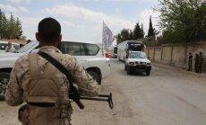 Sīrijas armija evakuē iespējamos Rietumu trieciena mērķus, vēsta SOHR