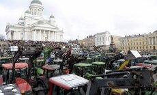 Foto: 500 traktoru Helsinku sirdī – somu lauksaimnieku protests