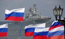 Iepretim Liepājai pamana Krievijas armijas kuģi