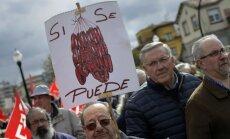 Pensionāri Spānijā pieprasa pensiju palielināšanu