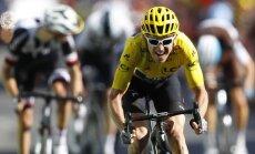 """Tomass ar vēl vienu posma uzvaru nostiprina līderpozīciju 'Tour de France""""; Skujiņam 90. vieta"""