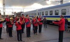 ФОТО, ВИДЕО: В Ригу прибыл первый поезд рейса Киев-Минск-Вильнюс-Рига