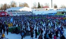 Baltijā lielākās slēpošanas sacensības - Tartu maratons. Video tiešraide