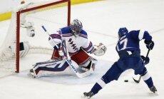'Rangers' pēc pārliecinošas uzvaras izlīdzina rezultātu NHL pusfinālā