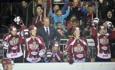 Rīgas 'Dinamo' gūst sešus vārtus un pieveic 'Ak Bars'