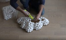 Video: Stilīgas lampas izveide no galda tenisa bumbiņām