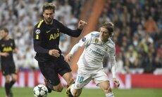 'Real' un 'Tottenham Hotspur' ČL cīnās neizšķirti; Mančestras 'City' pieveic 'Napoli'