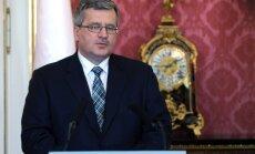 Komorovskis nosoda FIB direktora apgalvojumus par Polijas vainu holokaustā