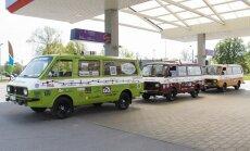 Liepājā, Jelgavā un Rīgā varēs apskatīt RAF mikroautobusus ekspedīcijai uz Vladivostoku