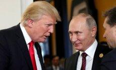 Kremlis noliedz iespējamu Trampa un Putina vienošanos par Irānas spēku izvešanu no Sīrijas