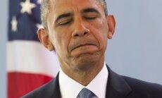 Obamas reitings noslīdējis līdz rekordzemam līmenim, liecina aptauja