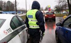 Ceļu policija pieķērusi deviņus dzērājšoferus