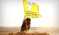 Karte: Kurdi ar arābu cilšu atbalstu un ASV tehniku lenc Raku