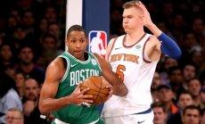 Porziņģis paliek bez trāpījumiem no spēles; 'Knicks' uzvar 'Celtics'