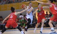 Latvijas U-20 basketbolistes pagarinājumā dramatiski zaudē mājiniecei Portugālei