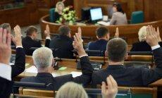 12.Saeima savā pirmajā rudens sesijā pieņēmusi 35 likumus; aktīvākie debatētāji - Viļums un Zariņš