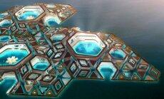 Foto: Ķīnā parādīsies peldoša zemūdens pilsēta