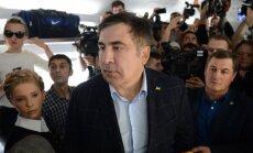 Polijā aptur vilcienu, ar kuru Saakašvili grib atgriezties Ukrainā