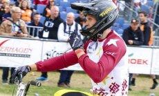 BMX braucējs Treimanis izcīna piekto vietu Eiropas čempionātā