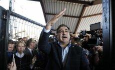 Saakašvili izsludināts meklēšanā par Ukrainas robežas pārkāpšanu