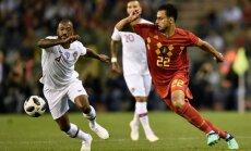 Beļģijas futbolisti pārbaudes mačā nospēlē neizšķirti ar Portugāli