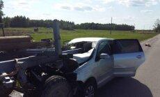 ФОТО: Жуткая авария в Акнисте, погиб 25 летний парень