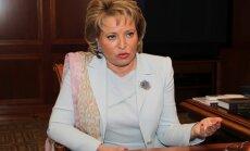 Kremlim jāatbalsta Grieķija, Kipra un Ungārija, uzstāj ietekmīgākā sieviete Krievijā