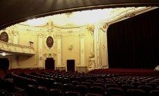 """Kino """"Rīga"""" Lielās zāles apskate pēc restaurācijas darbu noslēgšanas."""