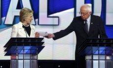 Klintones un Sandersa debates izvēršas asā viedokļu sadursmē