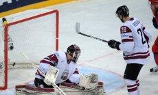 Latvija pēc graujoša zaudējuma Krievijai turpina 'sauso' sēriju PČ
