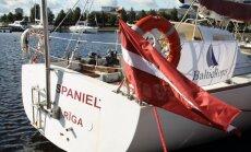 Jahtas 'Spaniel' komanda viesojas vēstniecībā Somijā