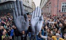 Ungāri protestē pret pilsoniskās sabiedrības apspiešanu