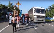 Uz Kijevu dodas Maskavas patriarhāta Krusta gājiens; nacionālisti draud neielaist pilsētā