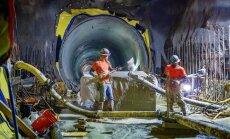 Foto: 17 miljardus vērtās jaunās Ņujorkas metro līnijas būvniecība