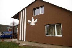 Самый четкий дом Литвы: хозяева украсили стены лого Adidas и прославились