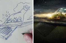 ВИДЕО: Художник наглядно показал, как он рисует оптические иллюзии