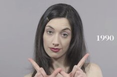 ВИДЕО: 100 лет истории причесок и макияжа за 60 секунд