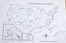 Eksperiments: Cik labi latvieši pārzina ASV štatu atrašanās vietu