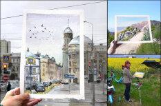 """Российская художница """"врисовывает"""" акварель в реальность и вот 13 ее работ"""