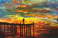 Pilnīgi akls gleznotājs rada iespaidīgus mākslas darbus