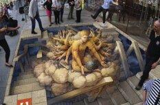 Семь 3D-картин на асфальте, которые обманут одно из твоих пяти чувств